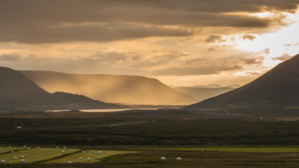 Vakaras pakeliui į Akureyri