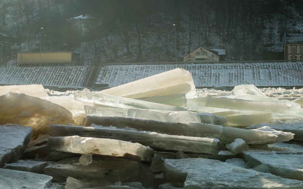 Ledų sangrųdos Nemune ties Vytauto bažnyčia