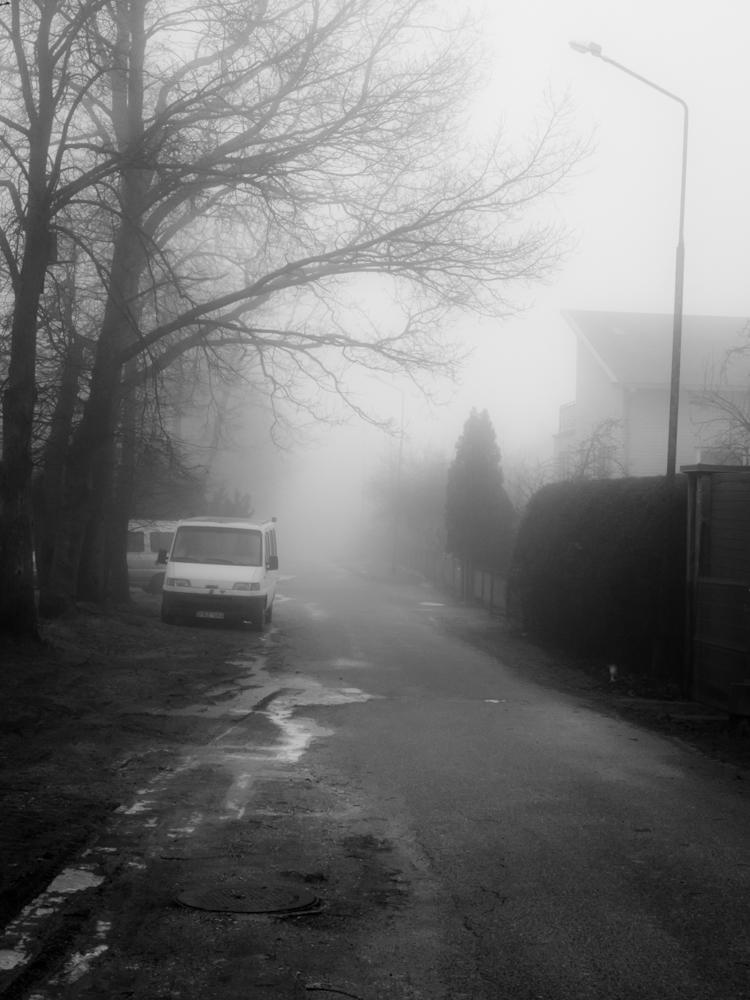 Miglotas priemiesčio rytas