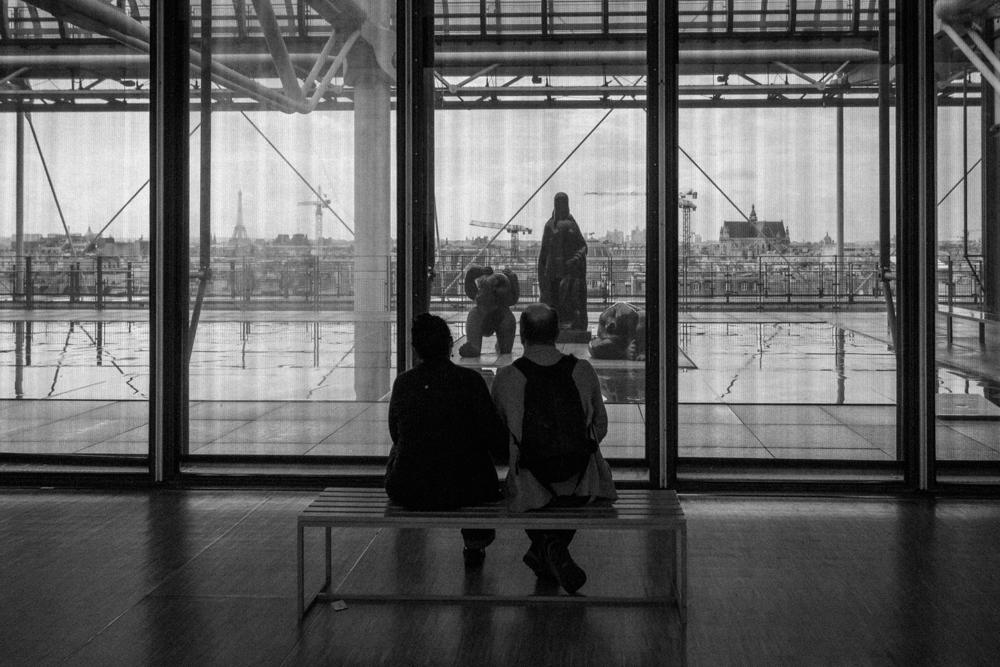 Vis dar lietus Paryžiuje. Pompidou centre.