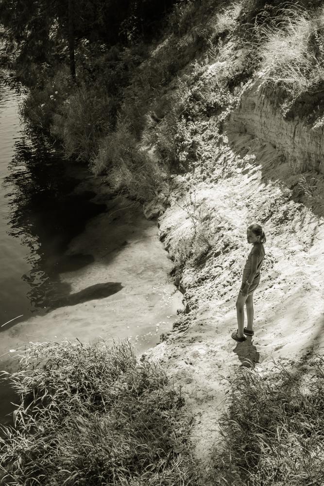 Vidurdienio kontrastai. Vetygalos atodanga prie Šventosios upės, Anykščių raj.