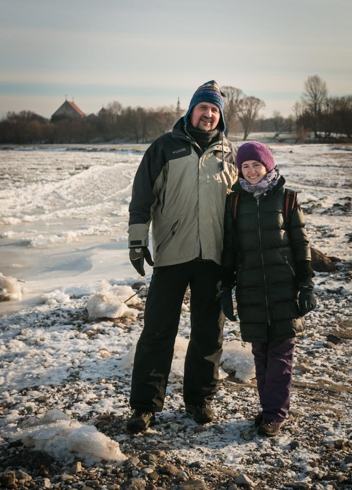 Nr.2 ir Nr.3. Artiomas ir Nataša, kurie nusprendė Kalėdų atostogas praleisti keliaudami po Lietuvą.